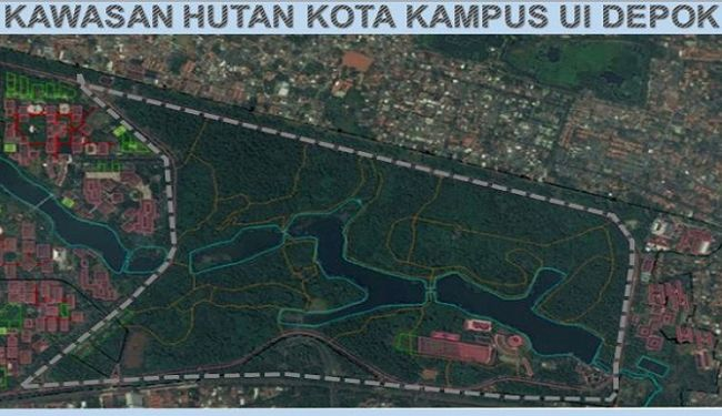 Masterplan of Urban Forrest and Sport Center of University of Indonesia at Depok 3