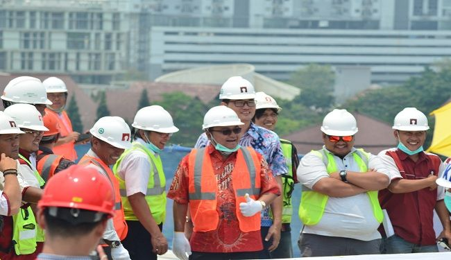 Topping-Off Ceremony of The Construction of Faculty of Mathematics & Natural Science UI Research Lab Building 3